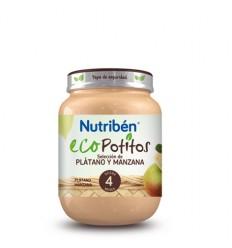 NUTRIBEN ECOPOTITO PLATANO-MANZANA 130G